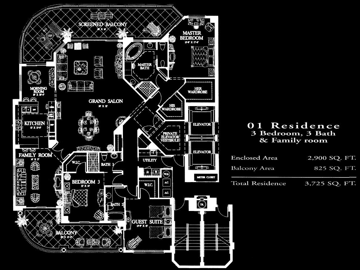 Salerno at Bay Colony 01 Floor Plan