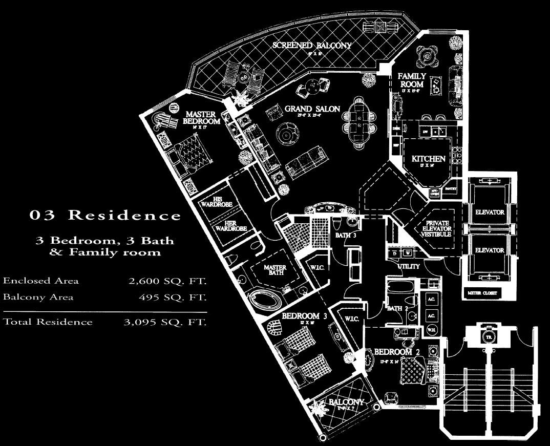 Salerno at Bay Colony 03 Floor Plan