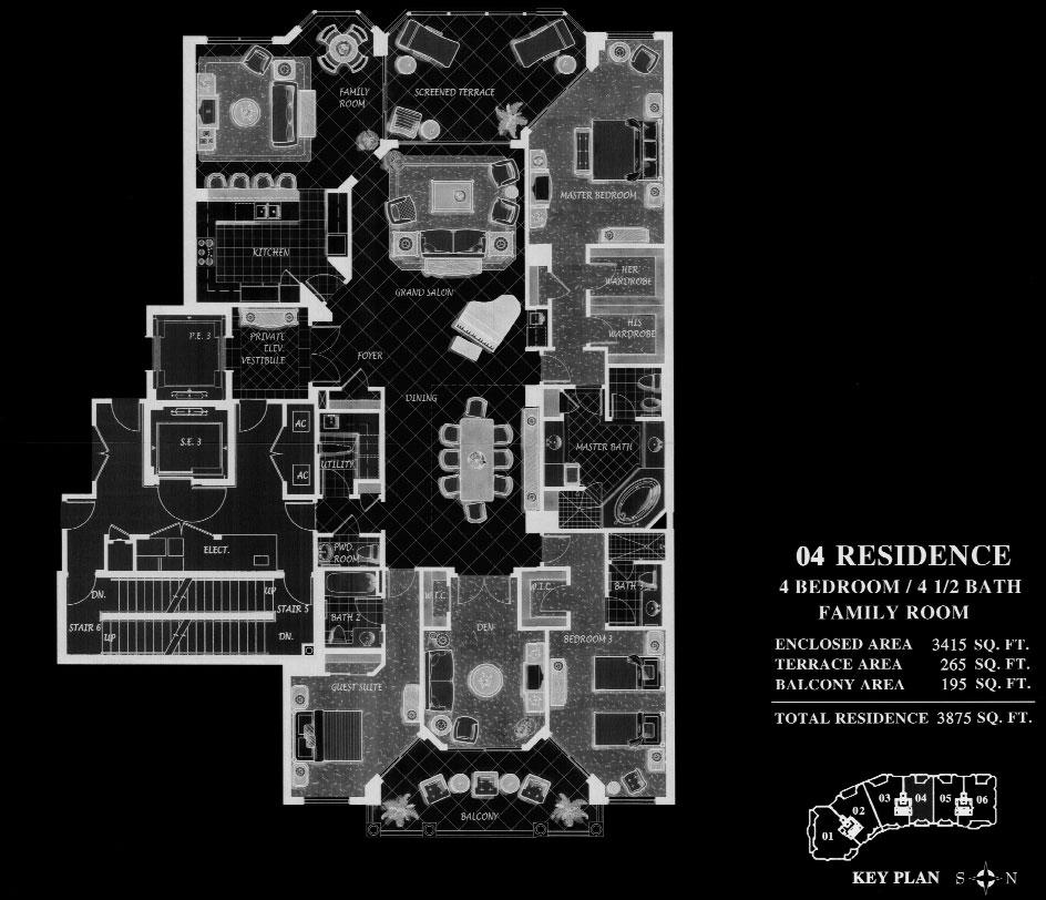Trieste at Bay Colony 04 Floor Plan