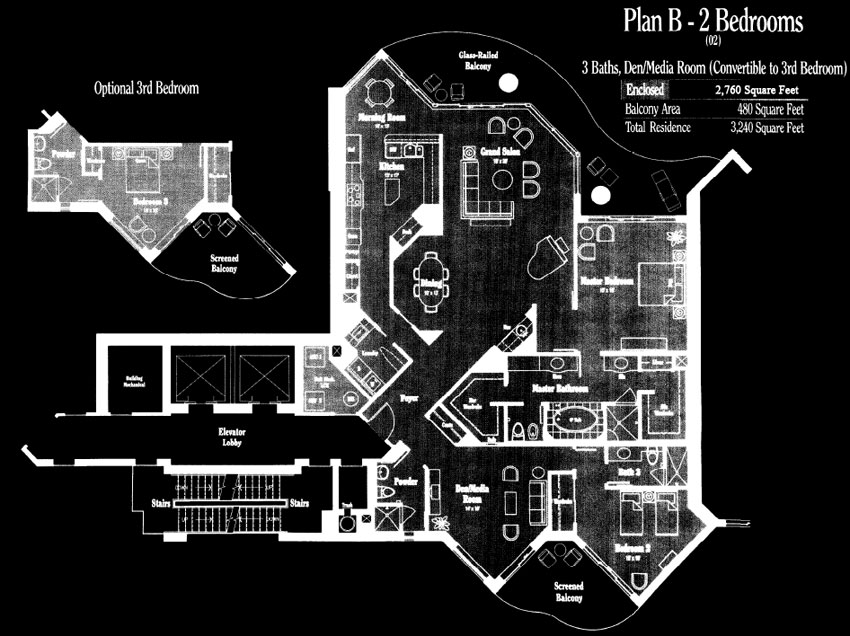 Brighton at Bay Colony Plan B Floor Plan