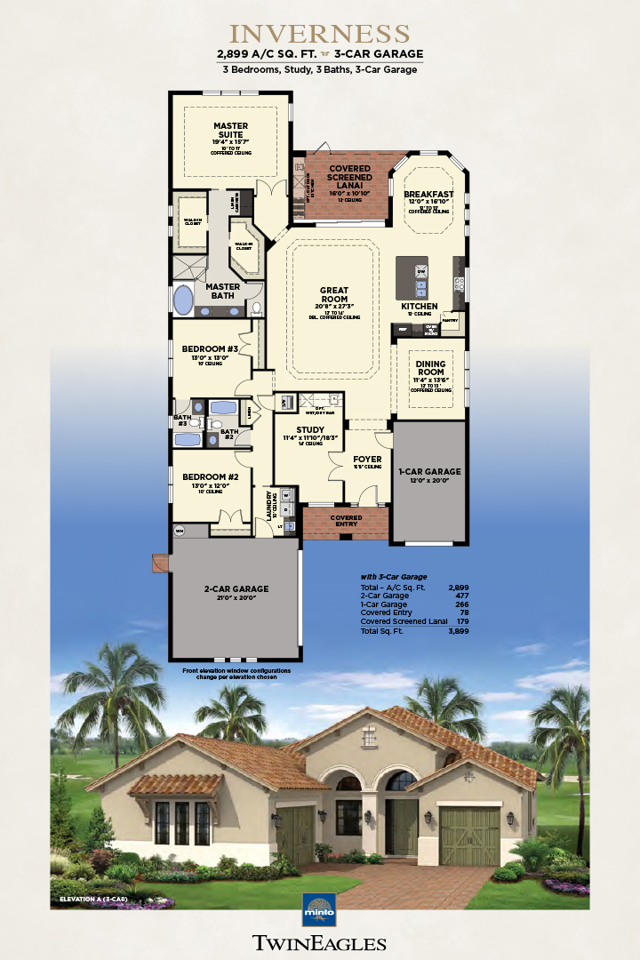 Minto Twin Eagles Inverness Floor Plan