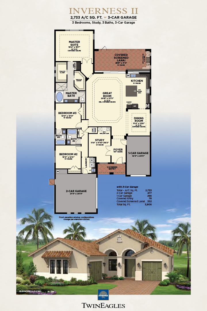 Minto Twin Eagles Inverness II Floor Plan