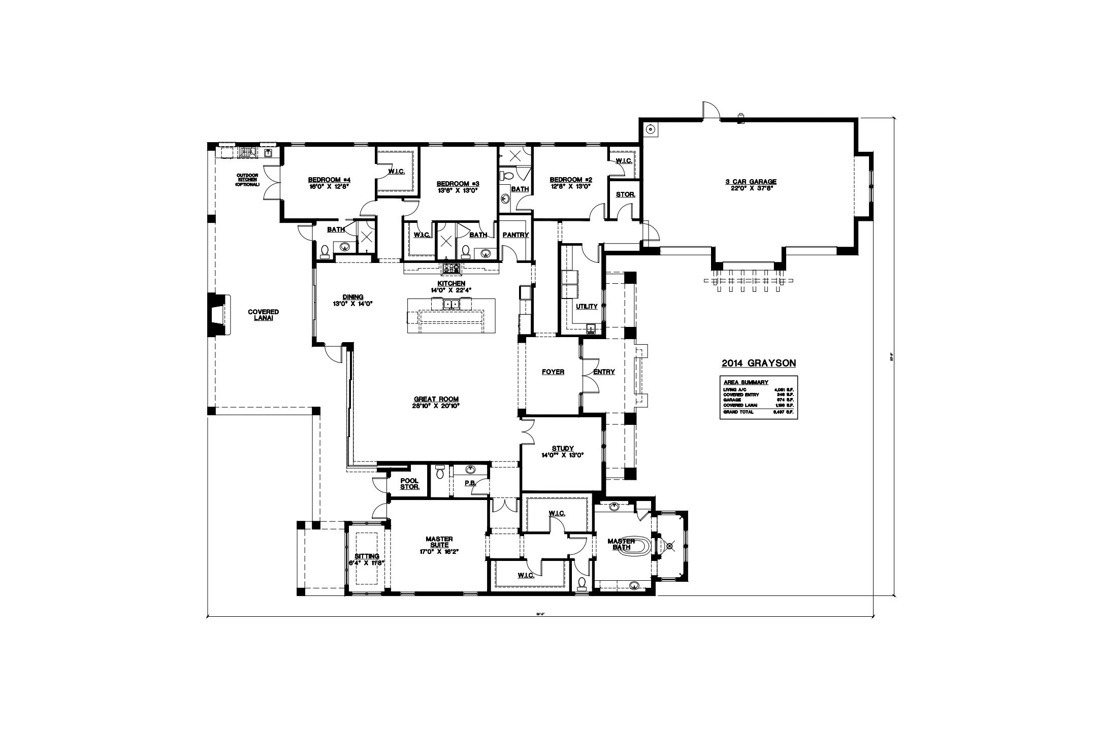 Stock Signature Homes Twin Eagles Grayson Floor Plan