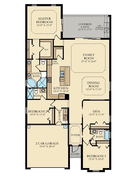 Lennar Twin Eagles Maria Floor Plan