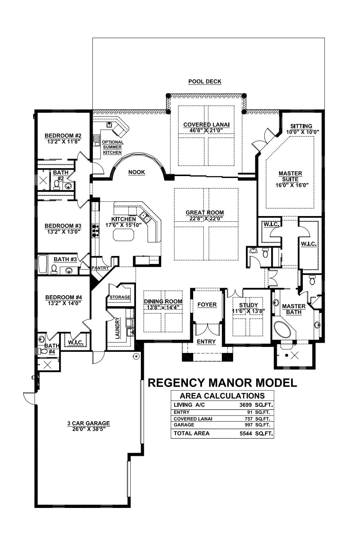 Stock Signature Homes Twin Eagles Regency Manor Floor Plan